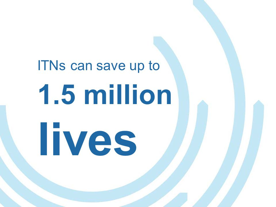 ITNs can save up to 1.5 million lives