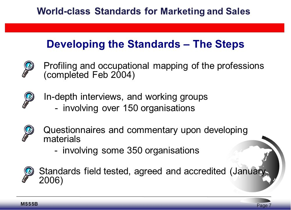 Understanding Occupational Performance Performance KnowledgeSkillsAttitudes World-class Standards for Marketing and Sales