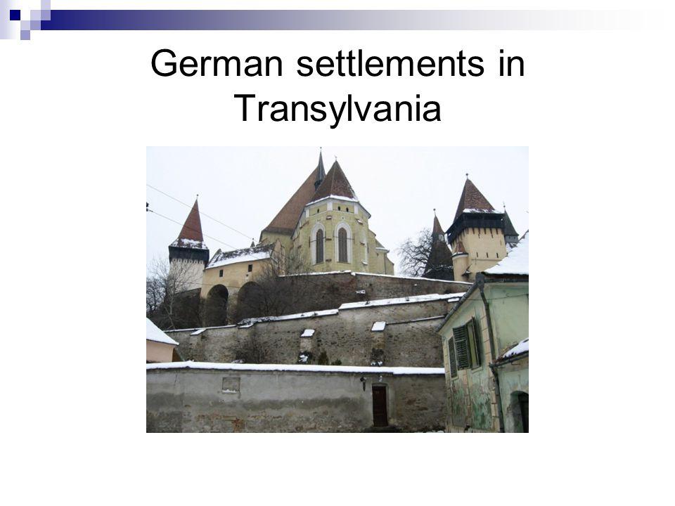 German settlements in Transylvania