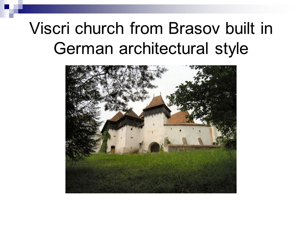 Viscri church from Brasov built in German architectural style