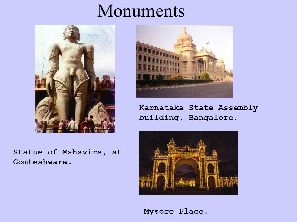 Monuments Karnataka State Assembly building, Bangalore.