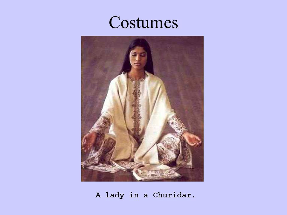 A lady in a Churidar. Costumes