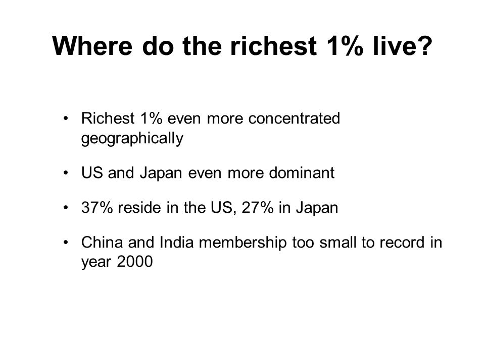 Where do the richest 1% live.