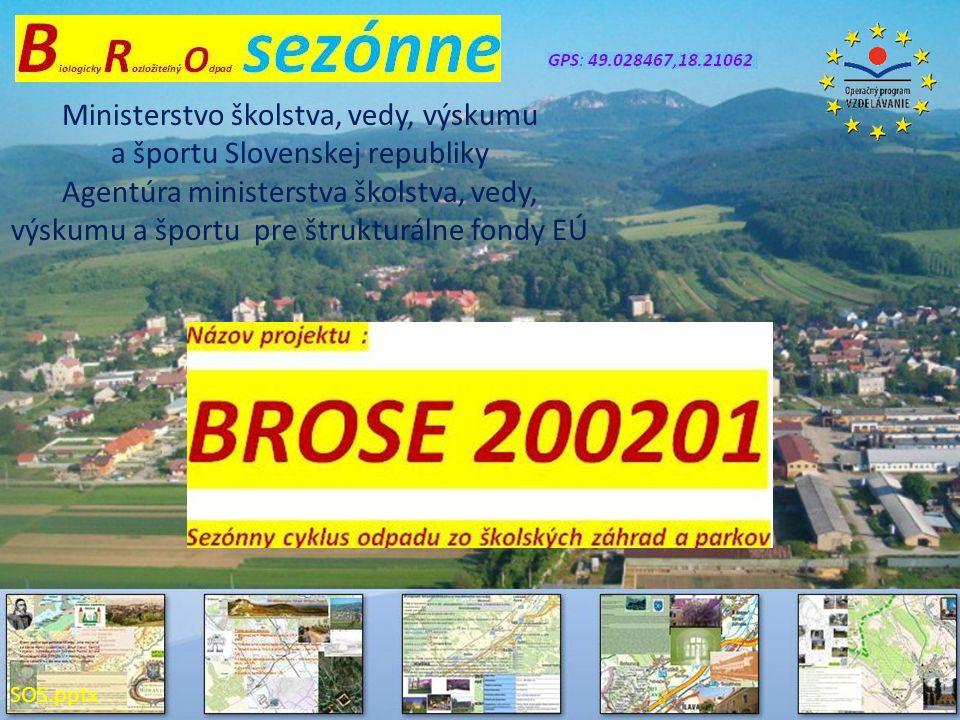Ministerstvo školstva, vedy, výskumu a športu Slovenskej republiky Agentúra ministerstva školstva, vedy, výskumu a športu pre štrukturálne fondy EÚ SO