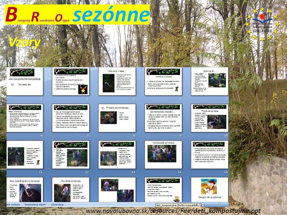 Vzory www.novalubovna.sk/resources/File/deti_kompostujme.ppt