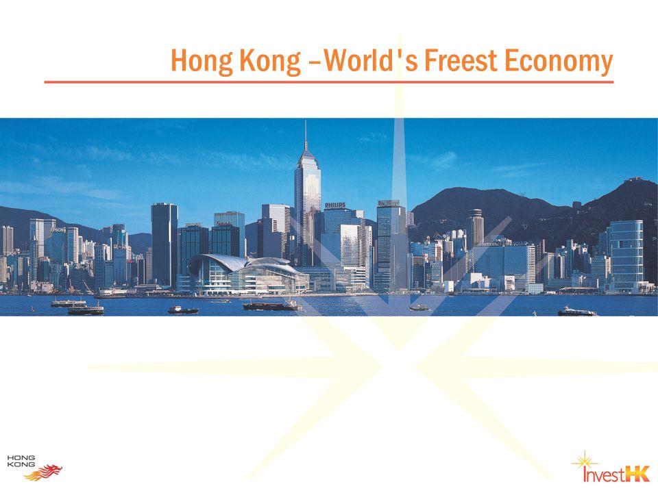 Hong Kong – key economic data Population6.9 mn (mid-2005) Per capita GDP US$24,100 (2004) Nominal GDP US$166 billion (2004) Total trade in goodsUS$530 billion (2004) Total trade in servicesUS$84 billion (2004) Economic growth 7.3% (2005Q1-Q3) Consumer price inflation 1.0% (Jan-Oct 2005) Unemployment rate 5.3% (Aug-Oct 2005)