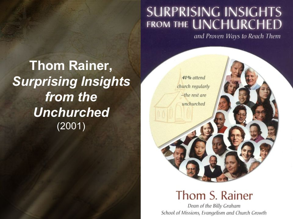 Thom Rainer, Surprising Insights from the Unchurched (2001)