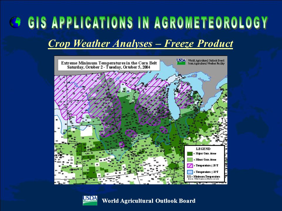 World Agricultural Outlook Board Crop Weather Analyses – Freeze Product
