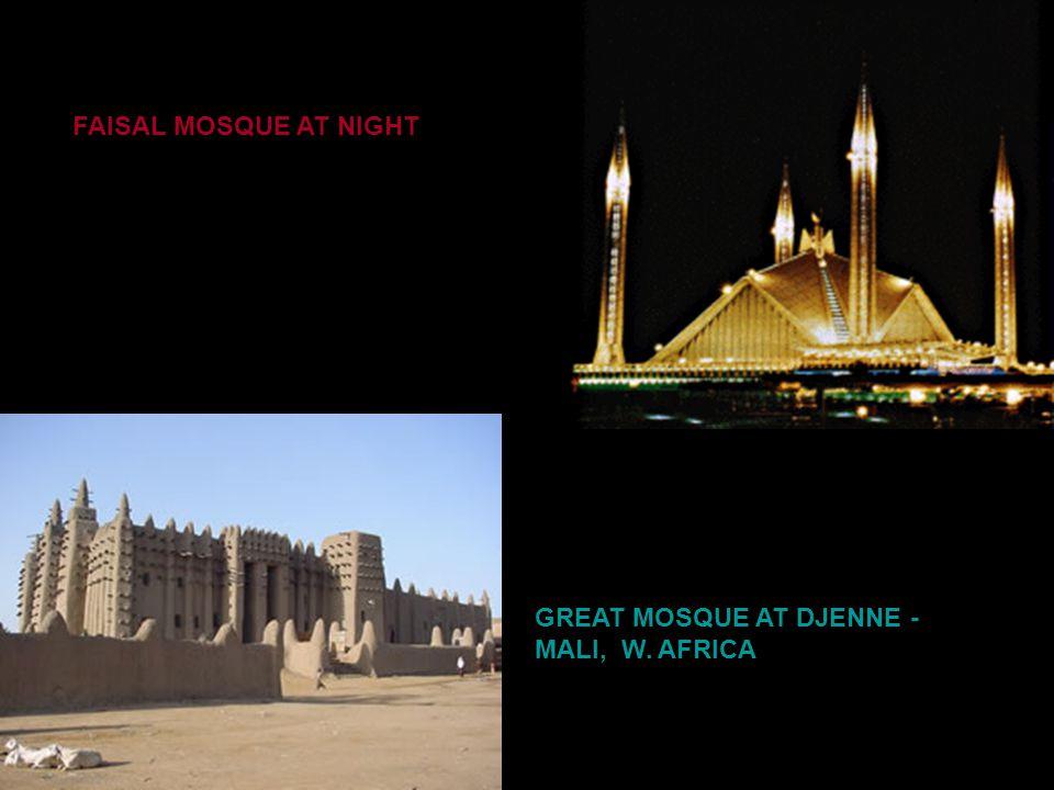 FAISAL MOSQUE – ISLAMABAD PAKISTAN