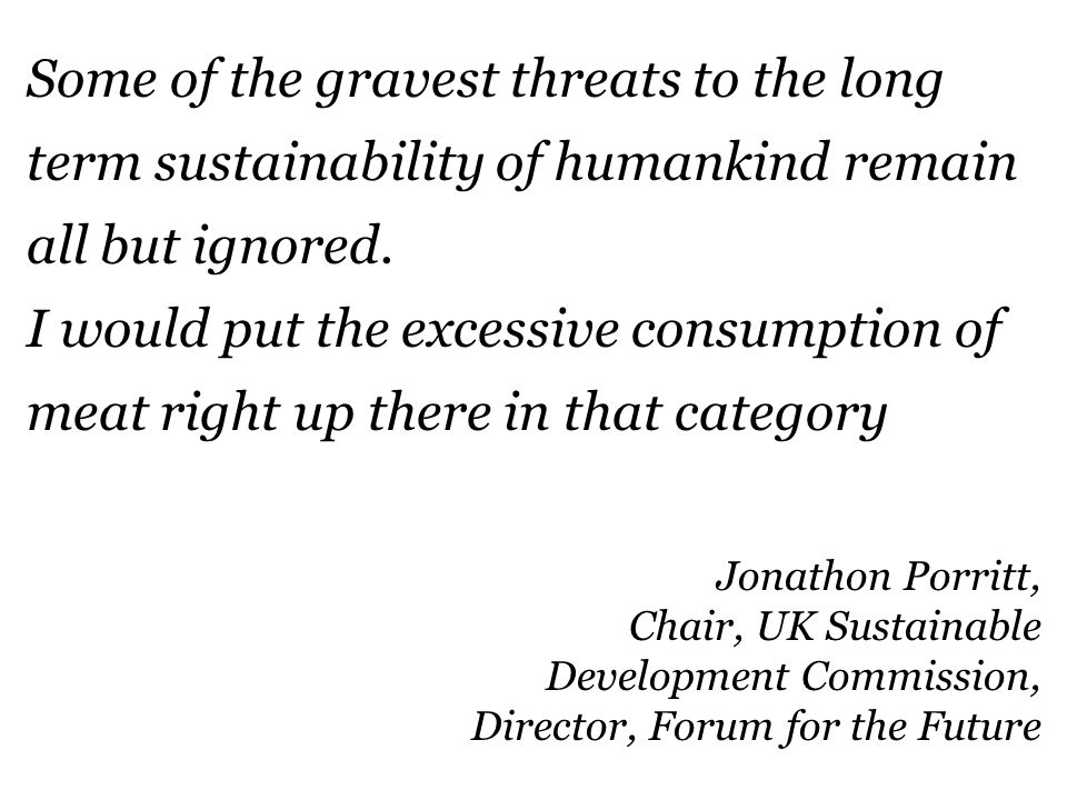 22 IPCC Some of the gravest threats to the long term sustainability of humankind remain all but ignored.