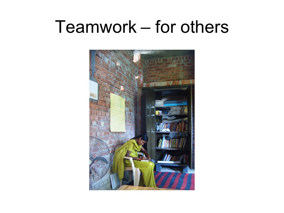 Teamwork – for others