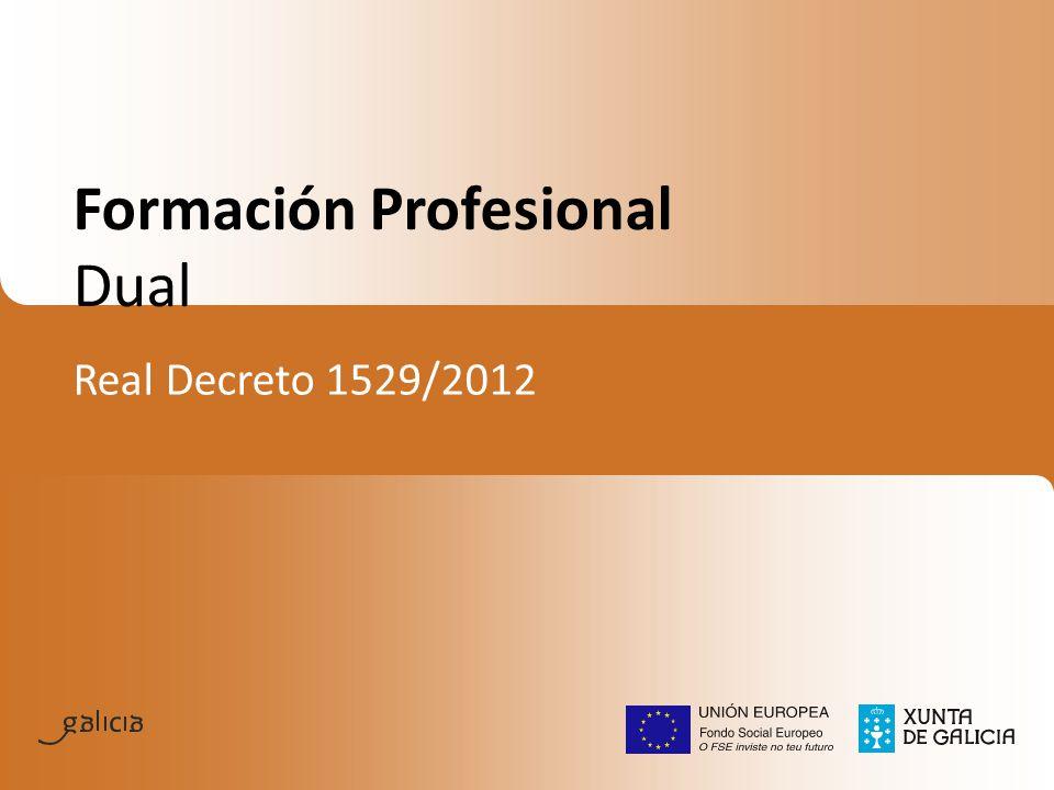 Formación Profesional Dual Real Decreto 1529/2012
