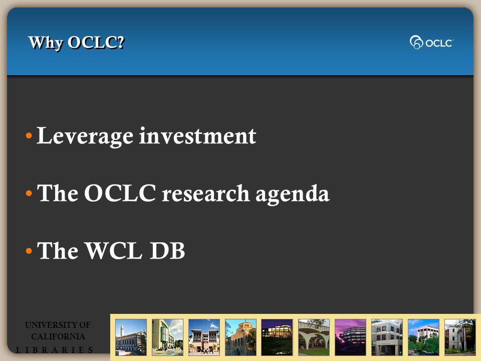 Why OCLC.