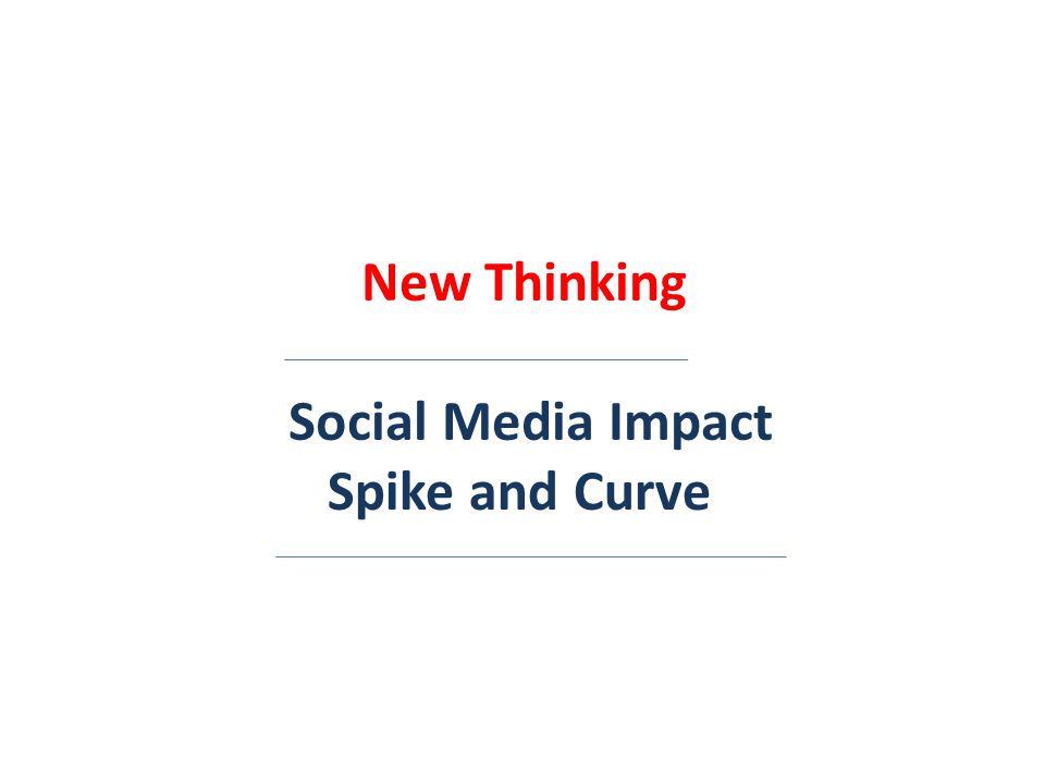New Thinking Social Media Impact Spike and Curve