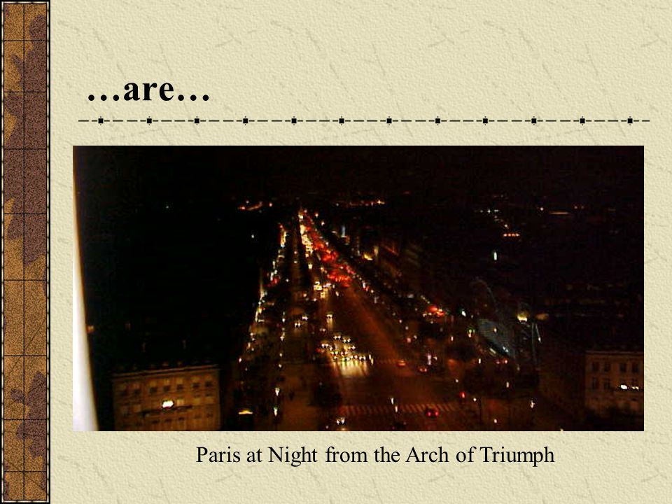 …are… Paris at Night from the Arch of Triumph