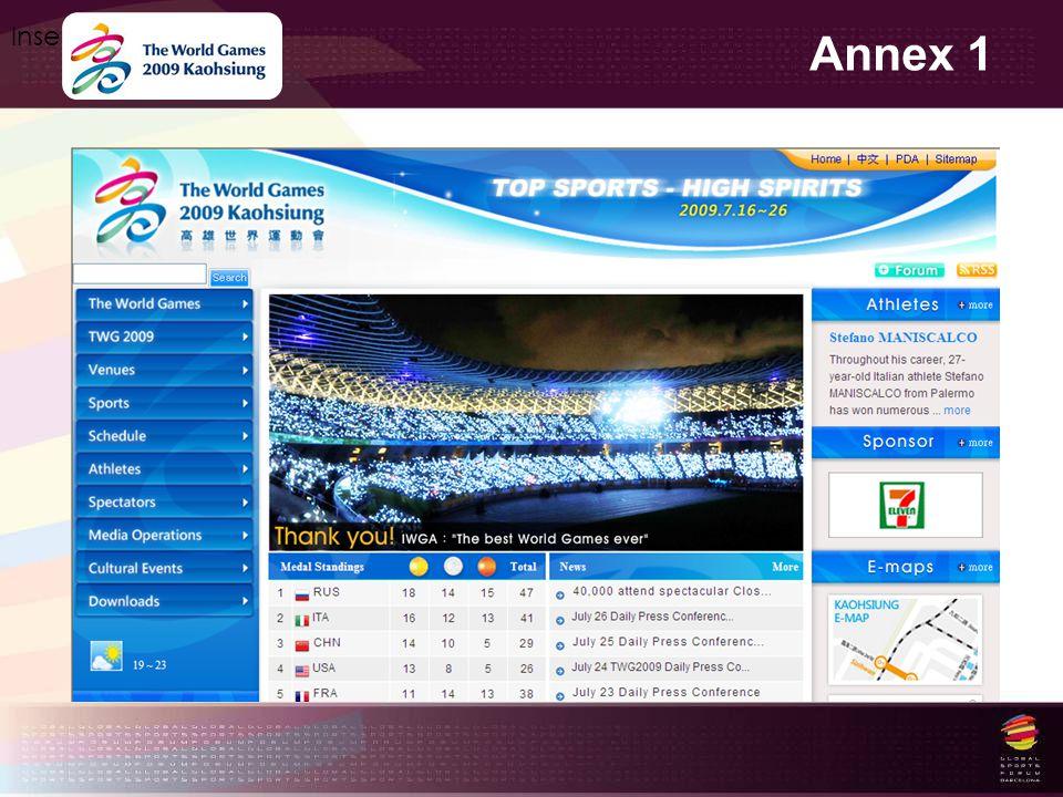 Annex 1 Insert your logo here http://www.worldgames2009.tw
