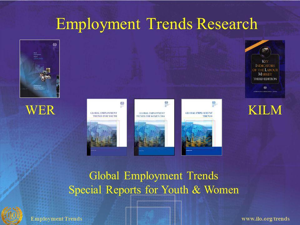 Employment Trendswww.ilo.org/trends Employment Trends Research Global Employment Trends Special Reports for Youth & Women WERKILM