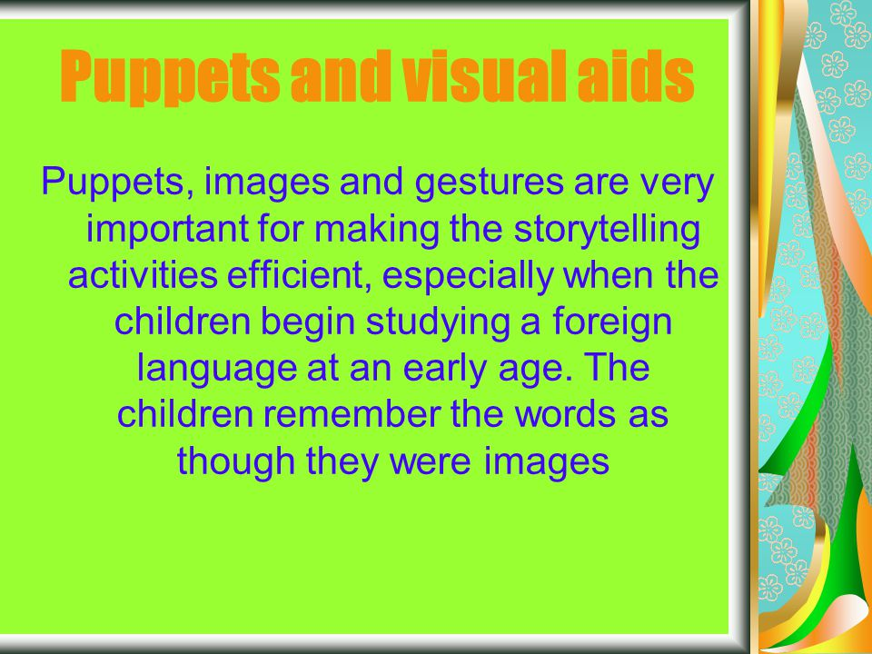 Bibliography Learning activities close to the children's world: games, songs, stories and drama By Glenn Alessi and Patricia Taylor – Scientific Coordination by Marina Bondi INDIRE