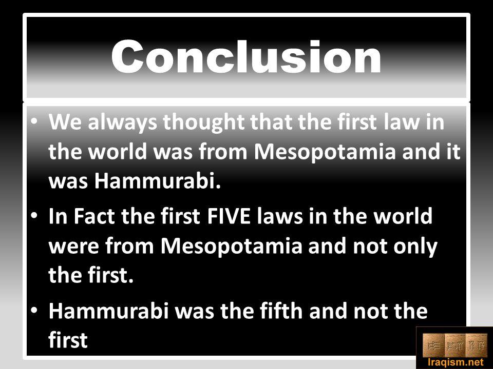 THE FIFTH LAW CODE OF HAMMURABI