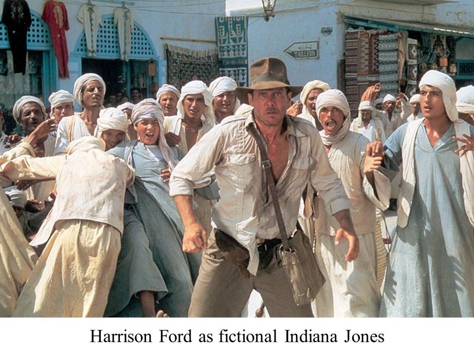 Harrison Ford as fictional Indiana Jones