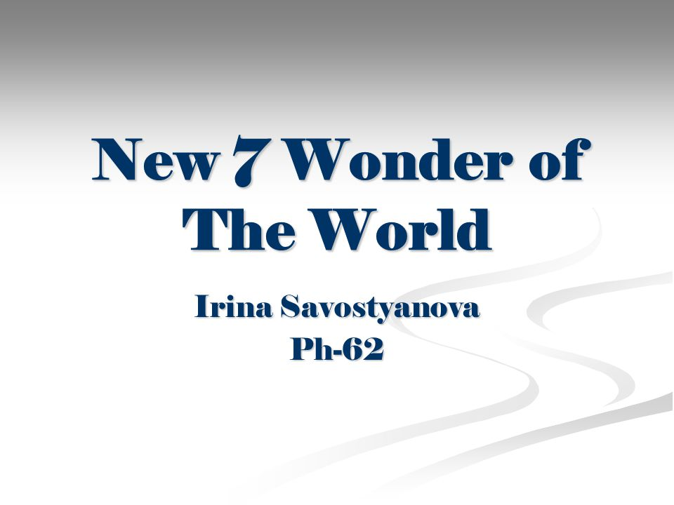 New 7 Wonder of The World Irina Savostyanova Ph-62