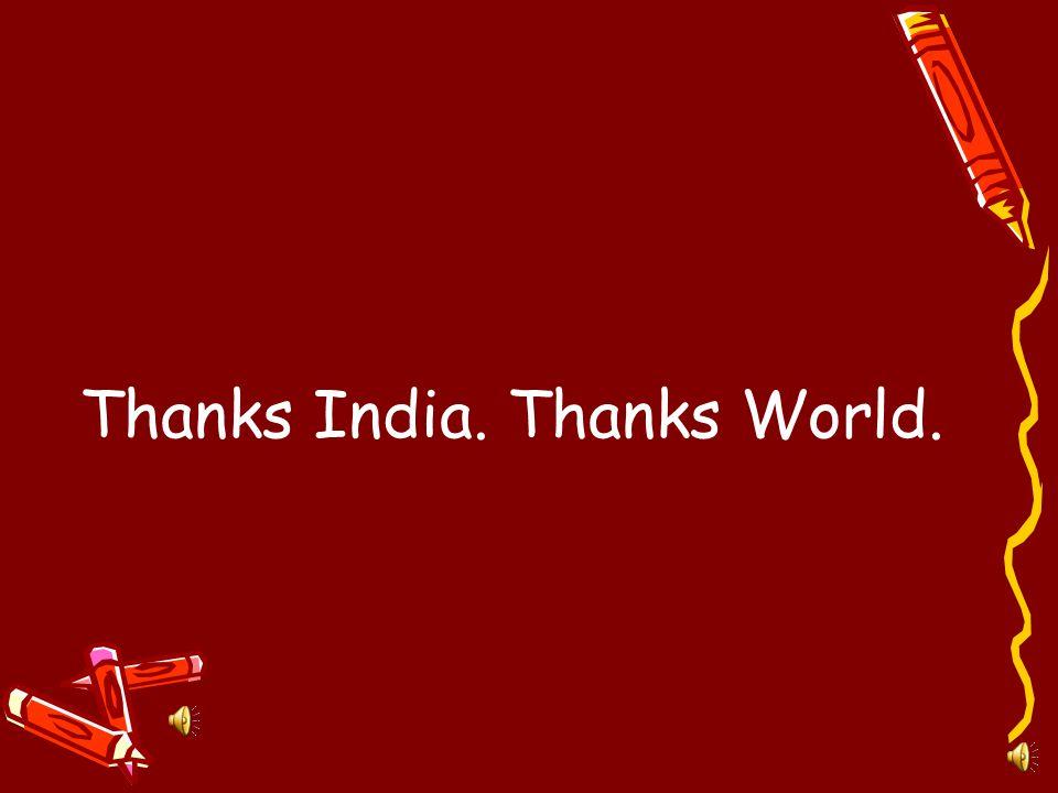 Thanks India.