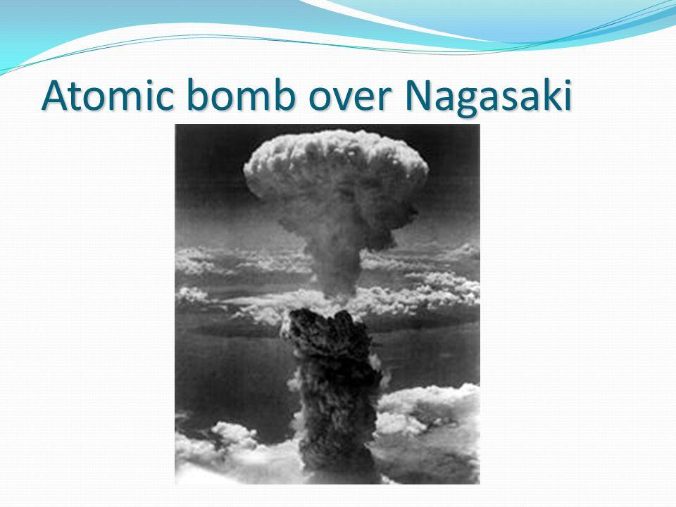 Atomic bomb over Nagasaki