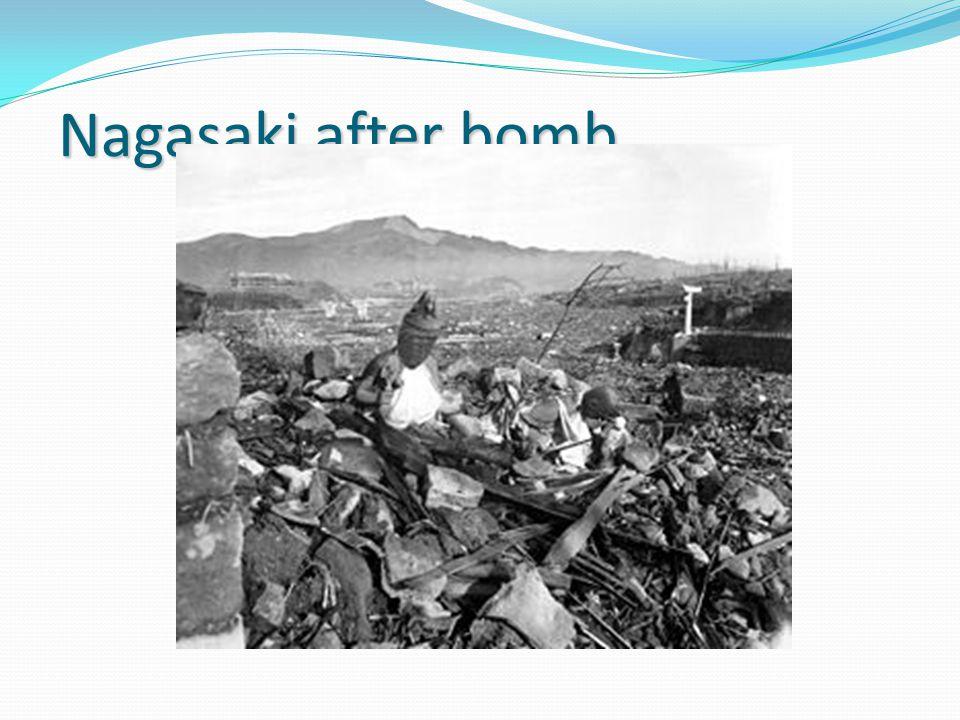 Nagasaki after bomb