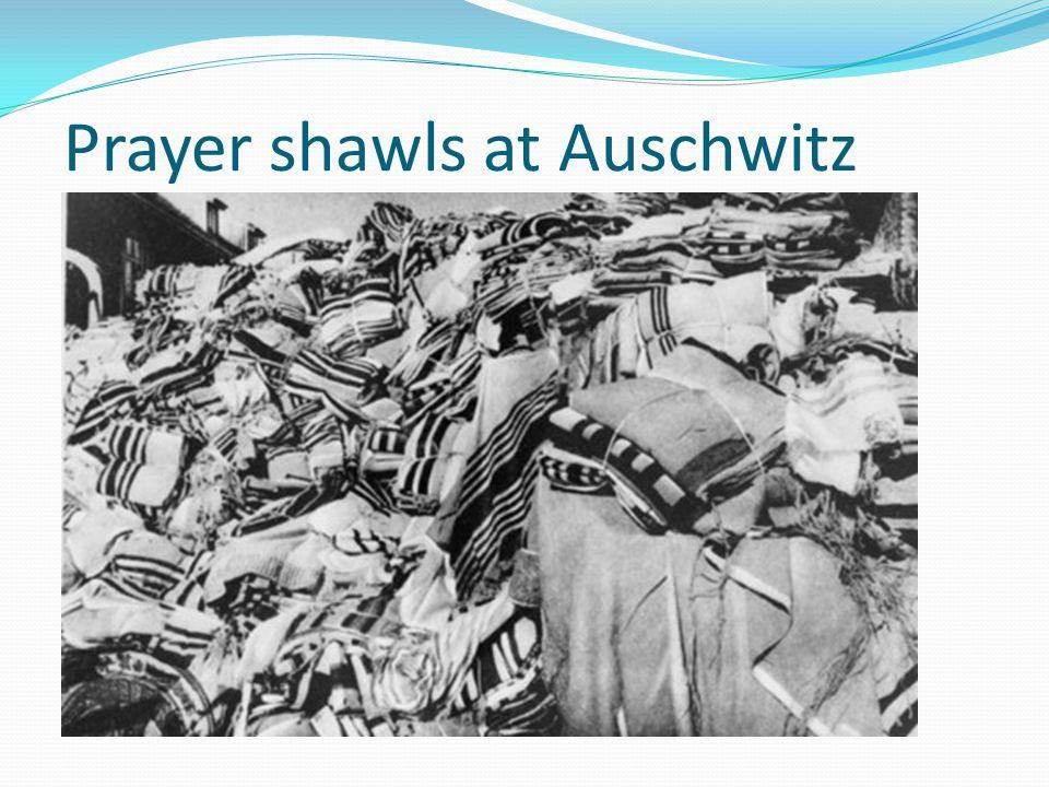 Prayer shawls at Auschwitz