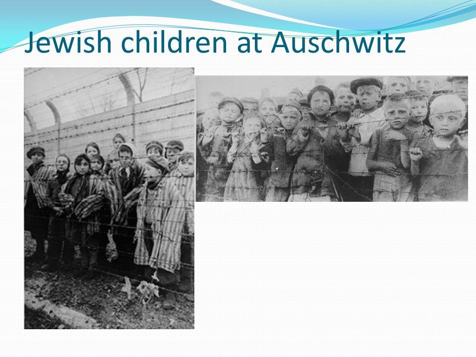 Jewish children at Auschwitz