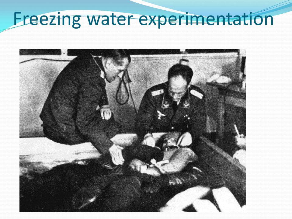 Freezing water experimentation