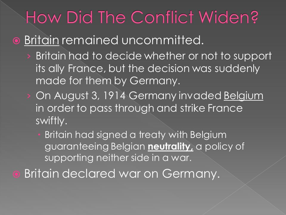  Britain remained uncommitted.
