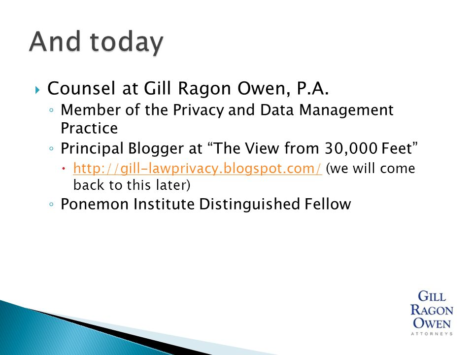  Counsel at Gill Ragon Owen, P.A.