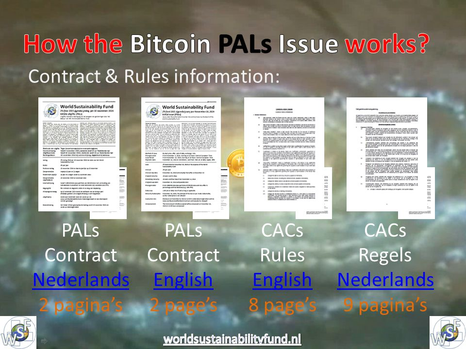 Contract & Rules information: PALs Contract Nederlands 2 pagina's PALs Contract English 2 page's CACs Rules English 8 page's CACs Regels Nederlands 9 pagina's