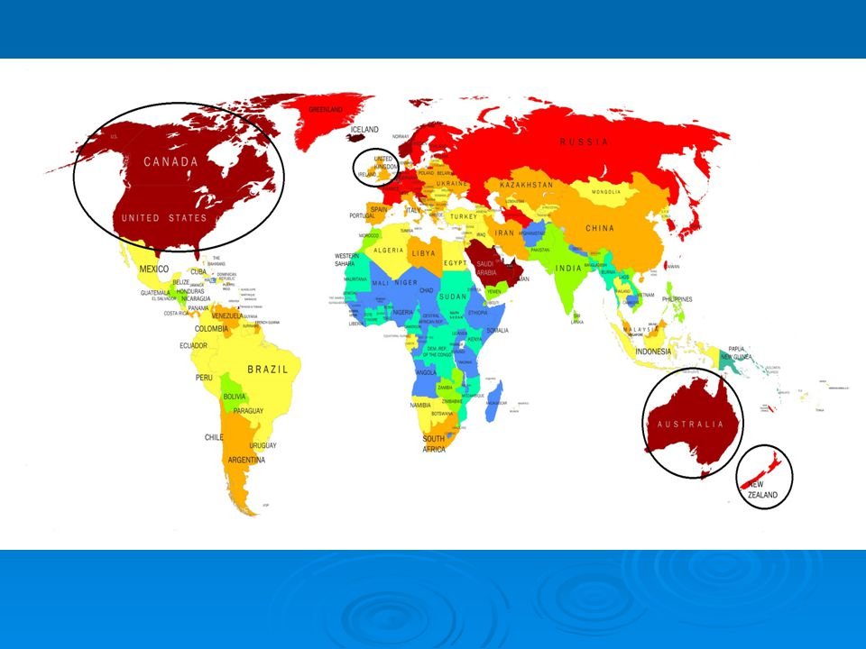  Outer Circle groups together countries such as the Philippines, Singapore, India, Malaysia, Pakistan, where English functions primarily as an institutionalized additional language