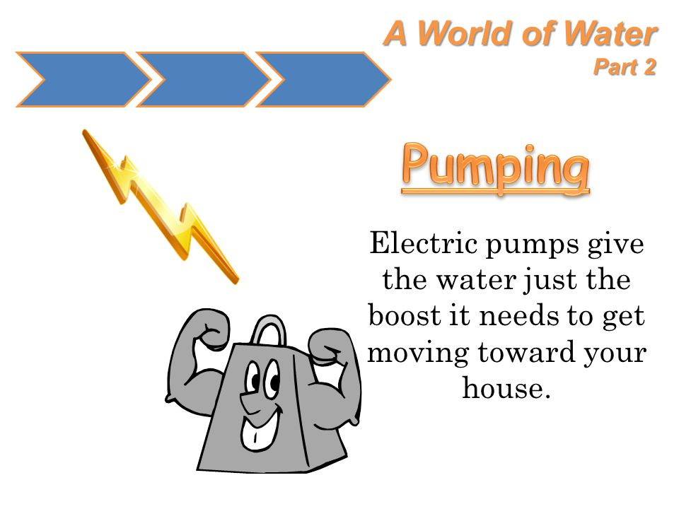 A World of Water Part 2 Electric pumps give the water just the boost it needs to get moving toward your house.