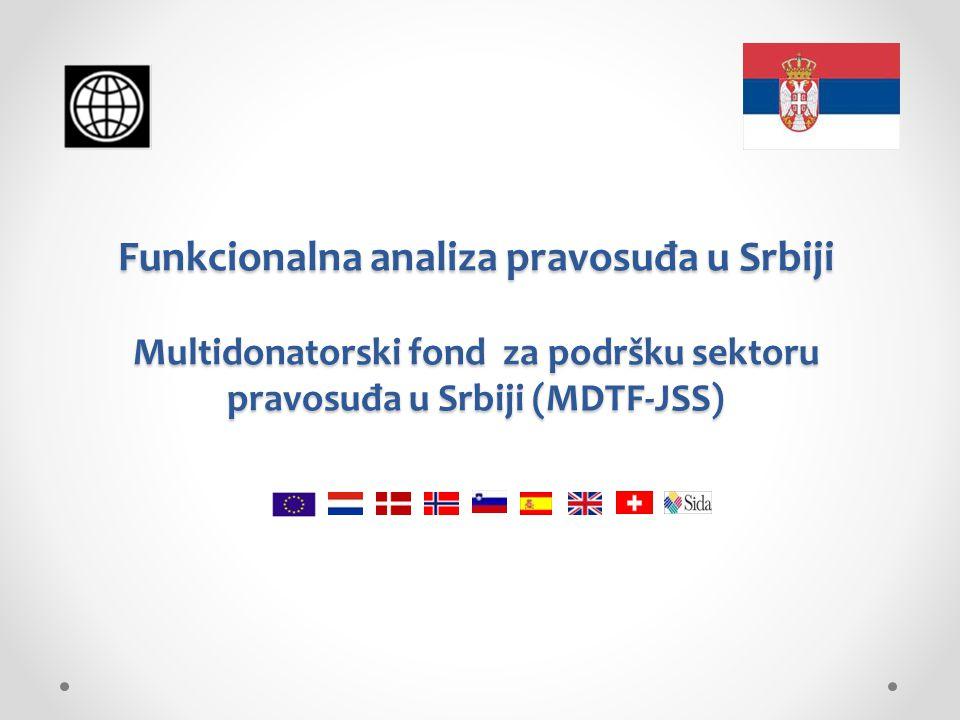 Funkcionalna analiza pravosuđa u Srbiji Multidonatorski fond za podršku sektoru pravosuđa u Srbiji (MDTF-JSS)