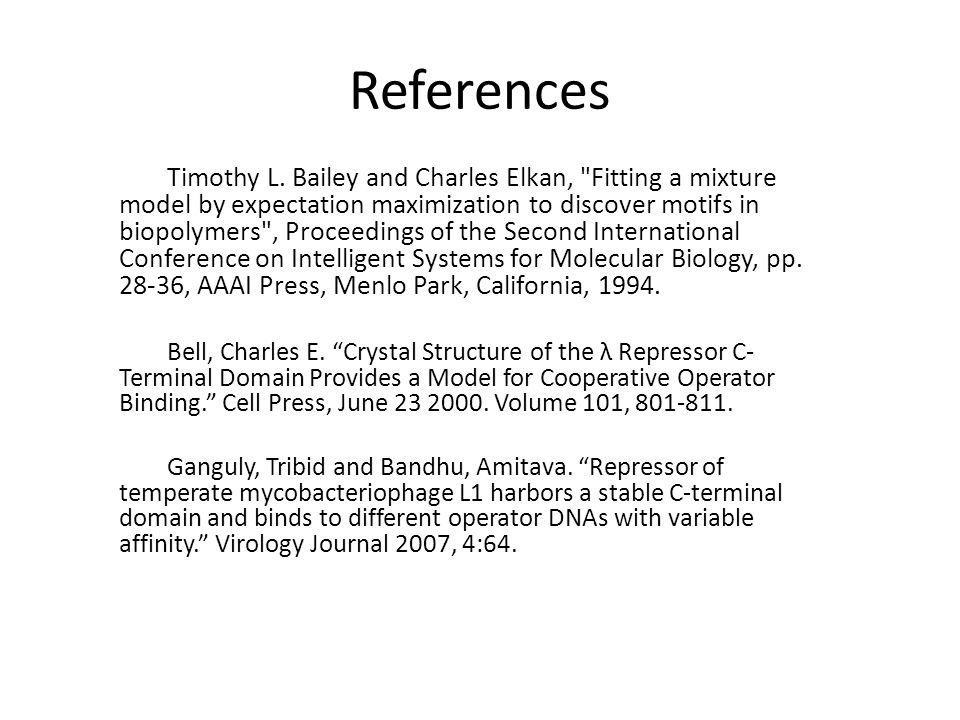 References Timothy L.