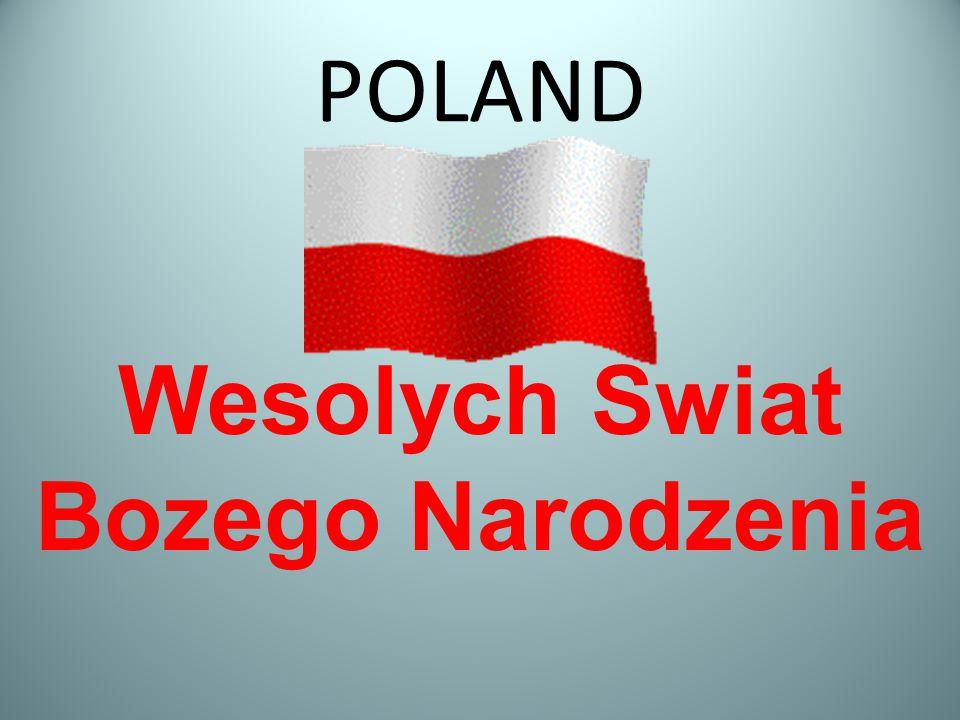 POLAND Wesolych Swiat Bozego Narodzenia