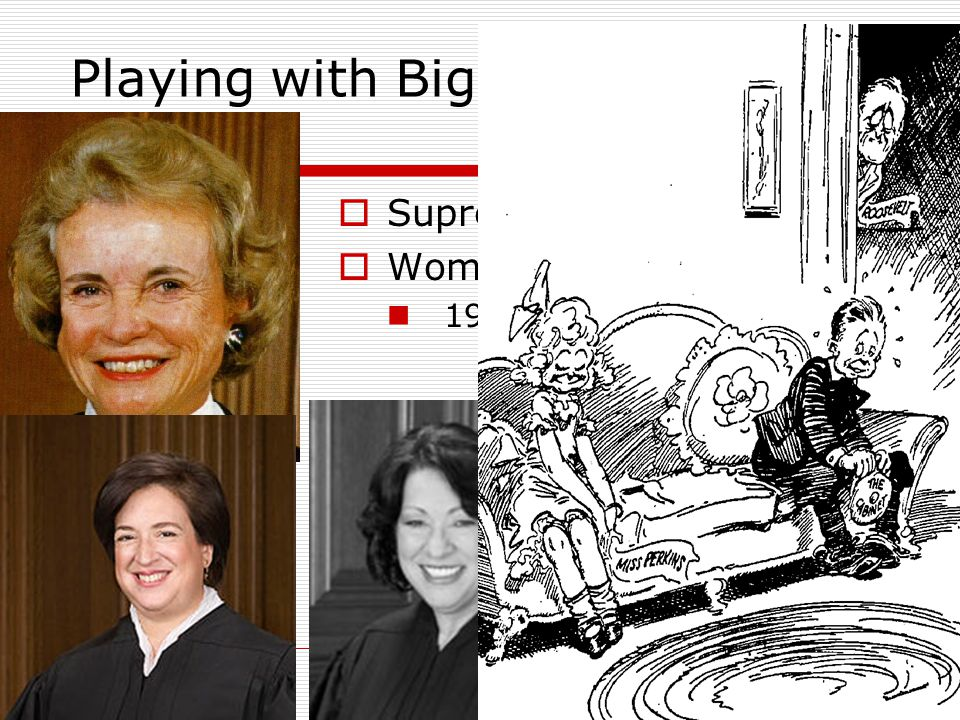 Playing with Big Boys  Supreme Court  Women of the Cabinet 1933, Frances Perkins