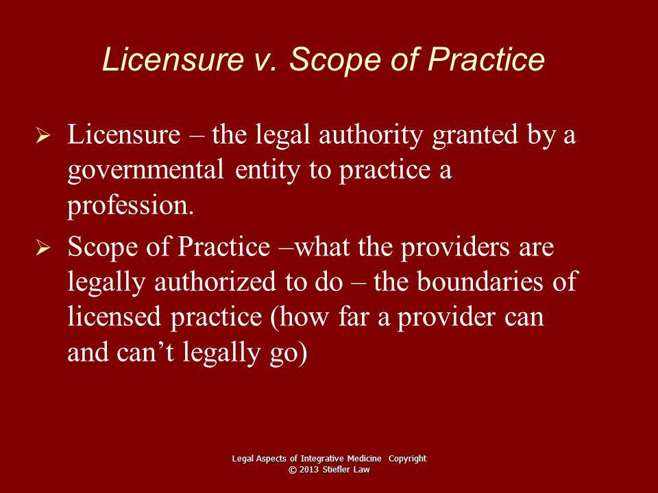 Licensure v.