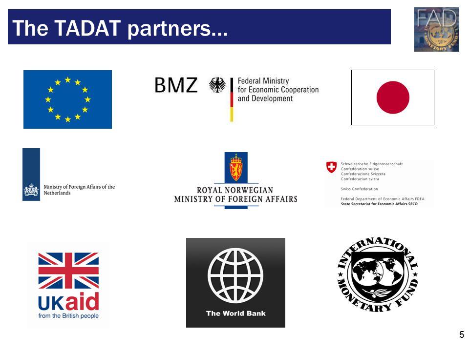 5 The TADAT partners...