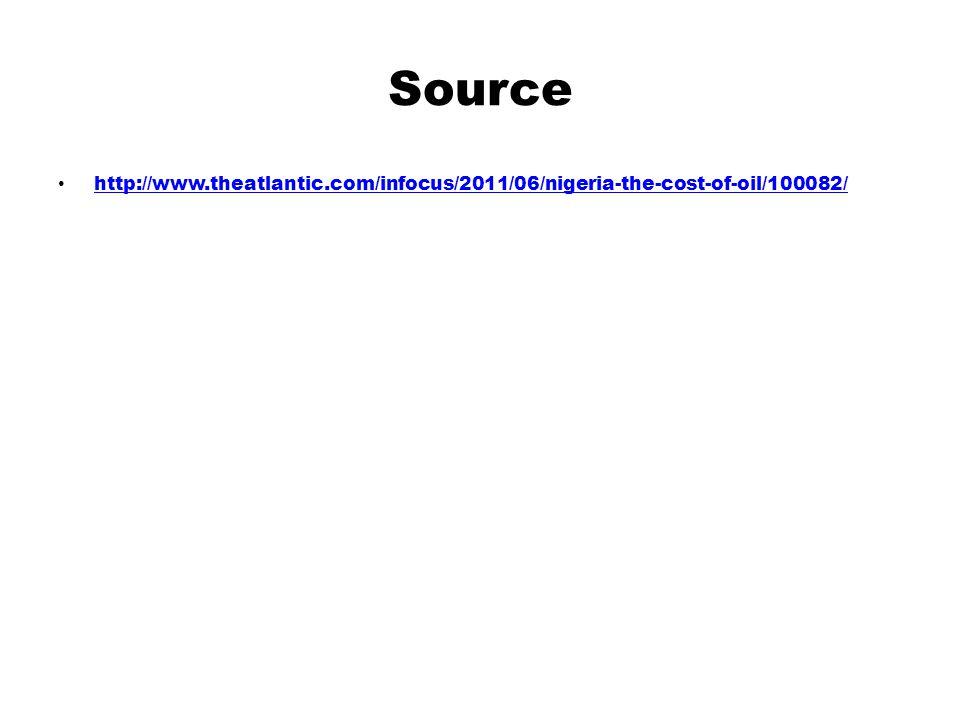 Source http://www.theatlantic.com/infocus/2011/06/nigeria-the-cost-of-oil/100082/