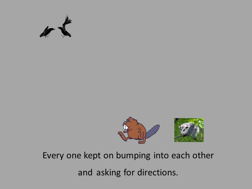 Every one kept on bumping into each other and asking for directions.