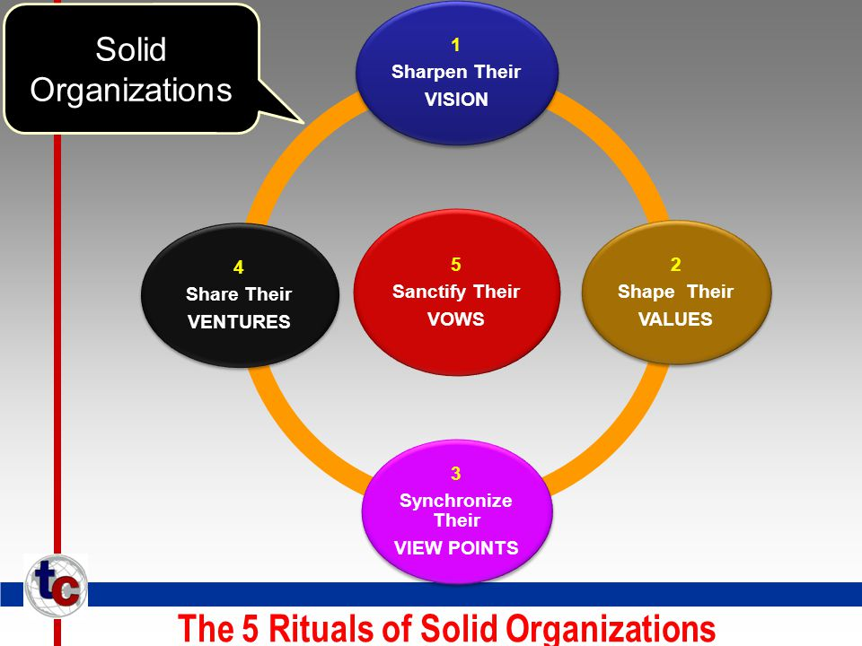 The 5 Rituals of Solid Organizations Solid Organizations