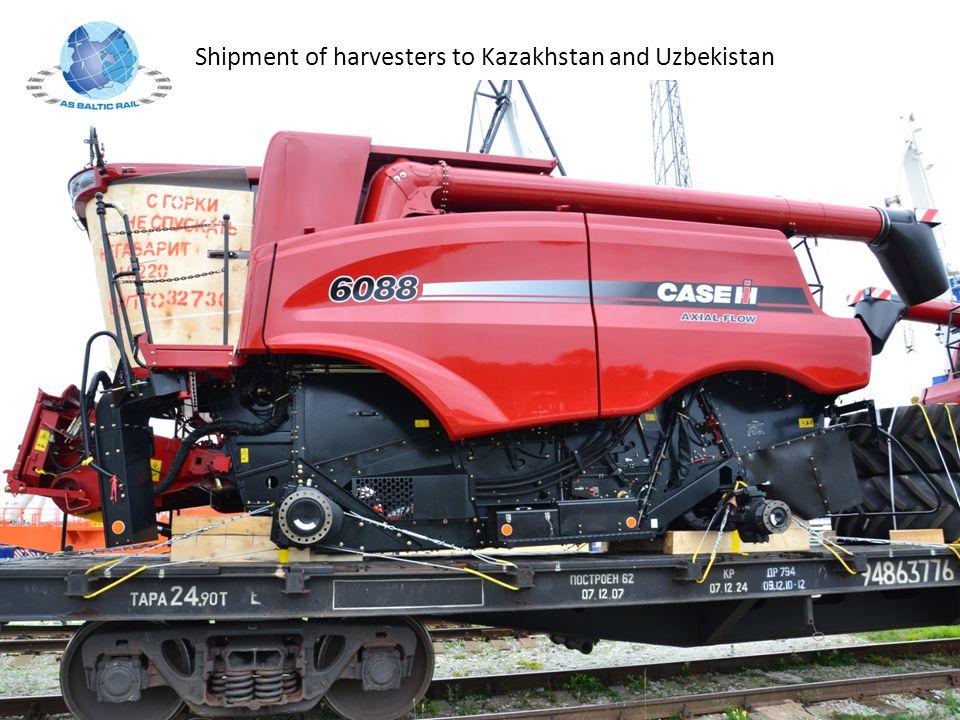 Shipment of harvesters to Kazakhstan and Uzbekistan