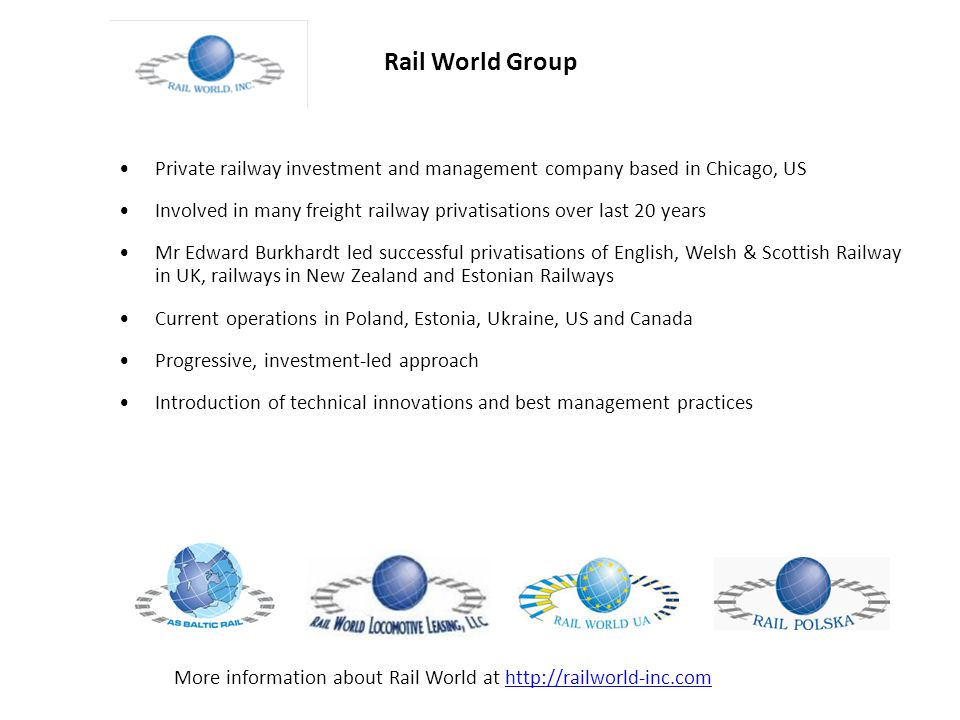 Baltic Rail AS general information Baltic Rail was established in the year 2008.