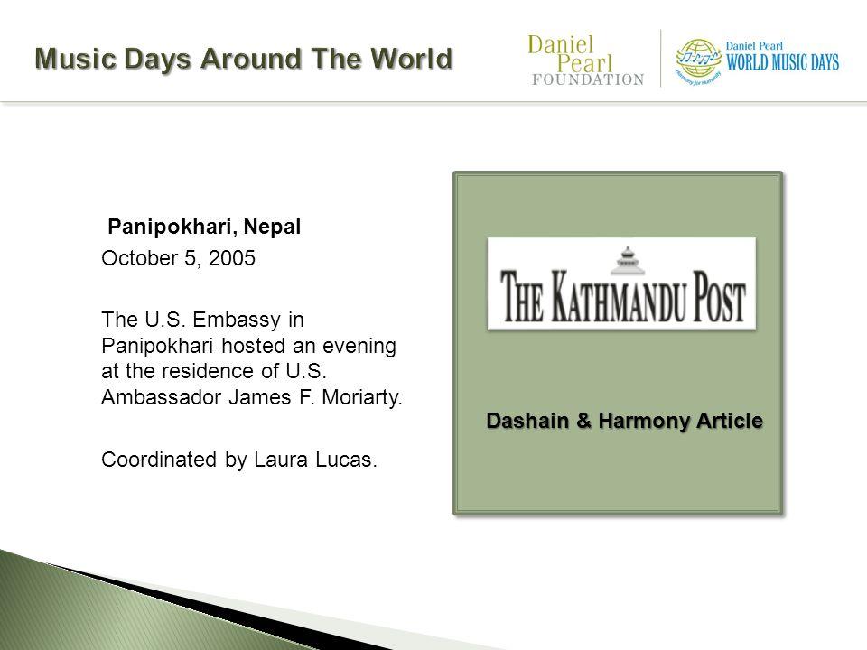 Panipokhari, Nepal October 5, 2005 The U.S.