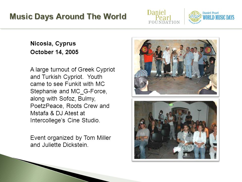Nicosia, Cyprus October 14, 2005 A large turnout of Greek Cypriot and Turkish Cypriot.