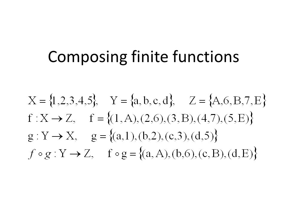 Composing finite functions